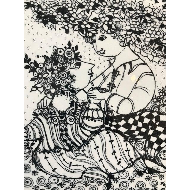 Bjørn Wiinblad 1970s Bjorn Winbald Porcelain Decorative Plate For Sale - Image 4 of 7