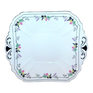 1930s Shelley China Cake Plate For Sale