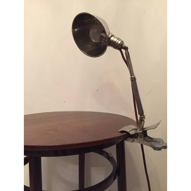 Art Deco Clamping Lamp by HALA - Hannoversche Lampenfabrik, 1920s For Sale - Image 4 of 9