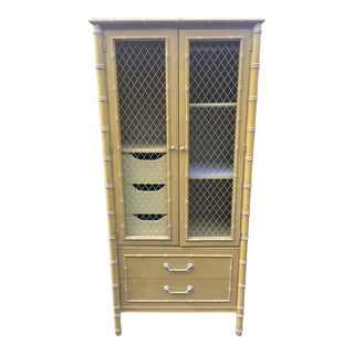 Thomasville Faux Bamboo Armoire