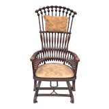 "Image of Late 19th Century George Hunzinger Highback ""Lollipop"" Platform Rocking Chair For Sale"