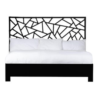 Tiffany Bed King - Black For Sale