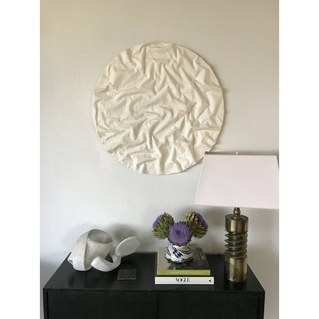 Original piece made by artist Tony Fahden. Mixed media and plaster create a dense, highly sculptured composition of...