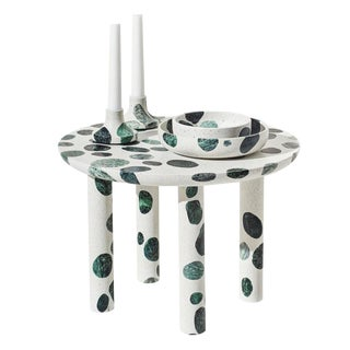 Collecta Circular Coffee Table or Side Table in Terrazzo by Alberto Bellamoli