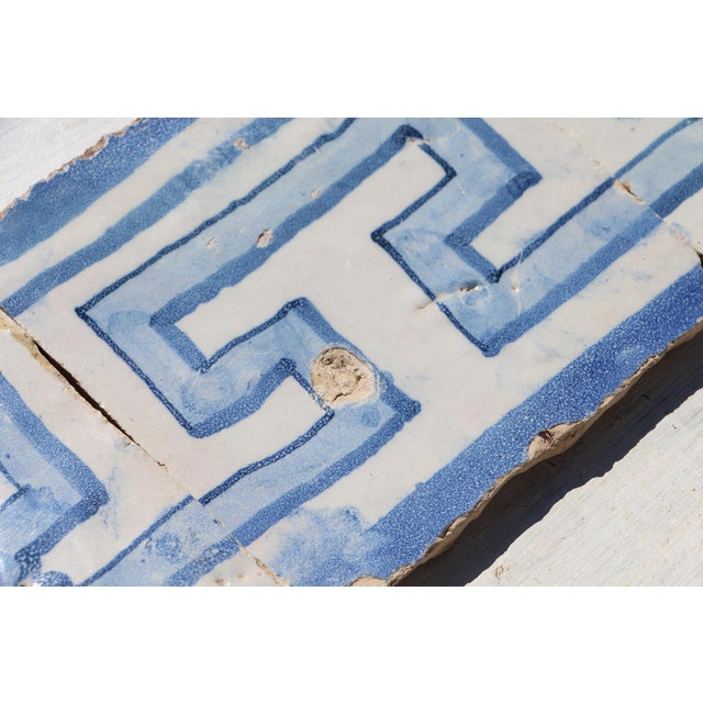 Blue 18th Century Greek Style Baroque Tiles - Set of 4 For Sale - Image 8 of 13