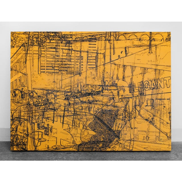 """""""Urban Sweetheart"""" Contemporary Abstract Industrial Mixed-Media Painting by Lee Gainer For Sale - Image 4 of 4"""