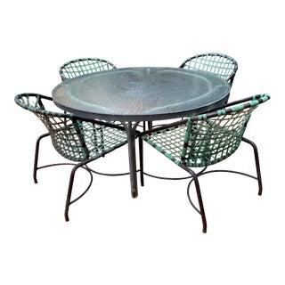Brown Jordan Kantan Mid-Century Modern Patio Dining Set - Table/4 Chairs For Sale