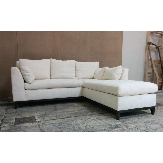 Custom Contemporary Sectional Sofa Off-White - Image 3 of 4
