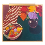 "Image of Signed Jane Chermayeff Oil Painting ""Oaxacan Still Life"" For Sale"