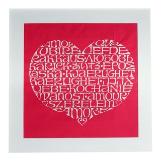 Alexander Girard Framed International Heart Textile