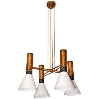 "1960 Italian Stilnovo Chandelier Model ""1197"""