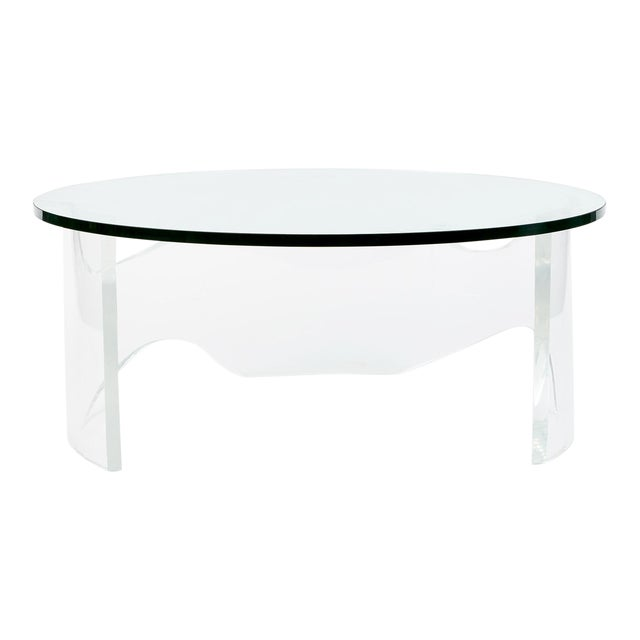 Biomorphic Lucite Coffee Table, 1970s For Sale