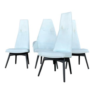Adrian Pearsall High Back Dining Chairs Set of 4 For Sale