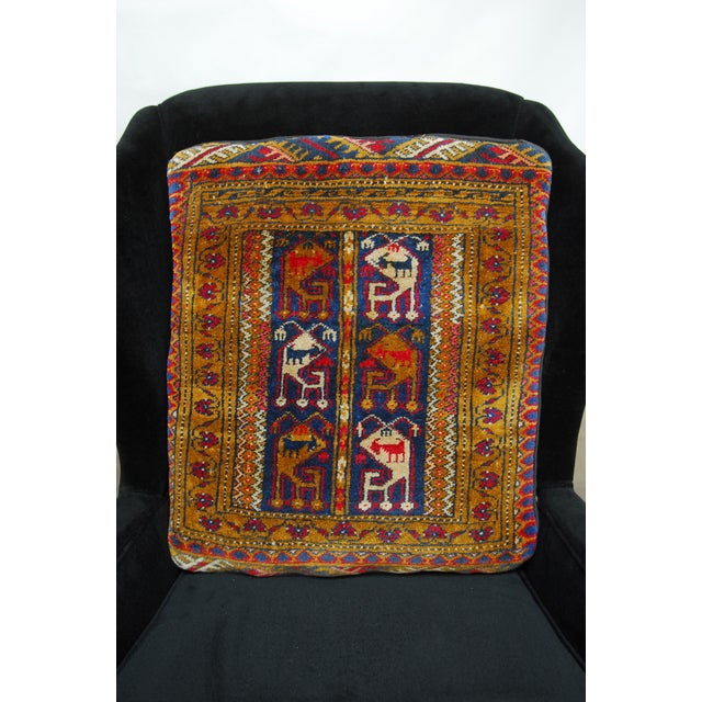 Oversized Turkish Rug Pillows - A Pair - Image 2 of 6