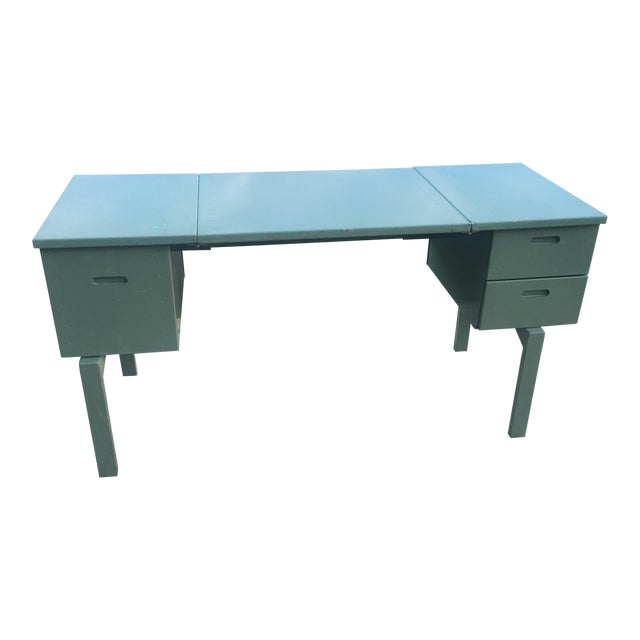 20th Century Industrial Aluminum Military Campaign Tanker Desk For Sale