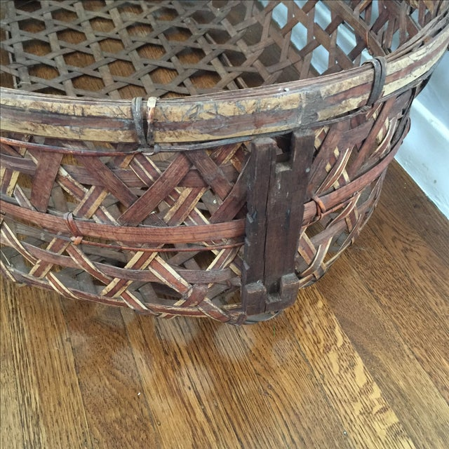 Large Vintage Wicker Bassinet With Rope Handles - Image 4 of 5