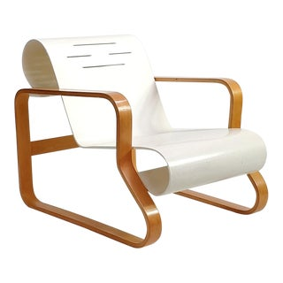 Original White Bentwood Paimio Chair For Sale