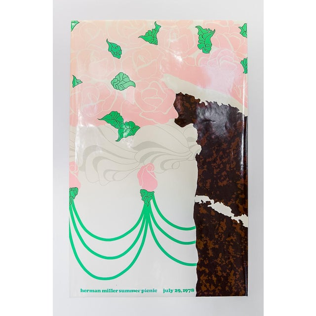 Paper Herman Miller Summer Picnic Chocolate Cake Poster For Sale - Image 7 of 7
