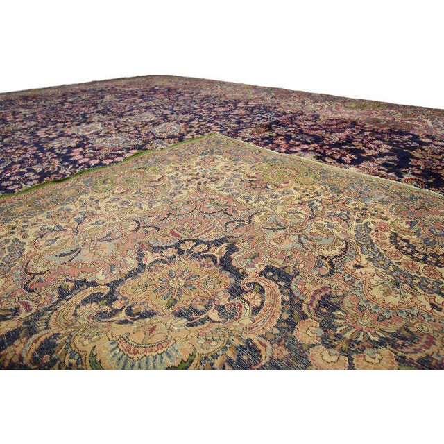 """Antique Persian Kirman Palace Size Rug - 11' X 17'4"""" For Sale - Image 9 of 10"""