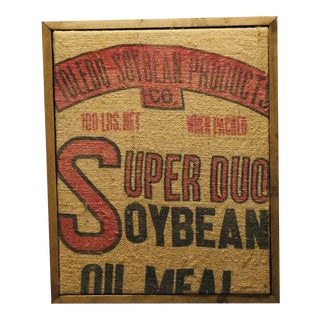 Vintage Feed Sack Wall Decor For Sale