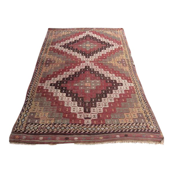 Vintage Turkish Anatolian Rug - 5′6″ × 9′1″ For Sale