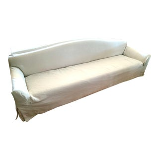 Christian Liaigre Basse Terra Sofa for Holly Hunt With Linen Slipcover For Sale