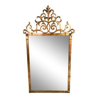 Hollywood Regency Gilt Iron Mirror