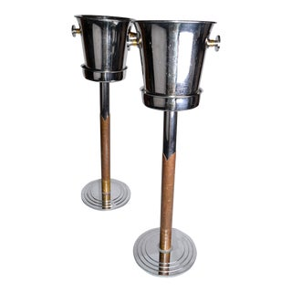 WMF Germany Steel & Brass Ice Buckets - A Pair