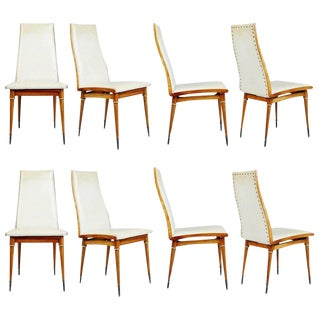 Eight Giuseppe Scapinelli Caviuna Dining Chairs, Brazil, Circa 1950
