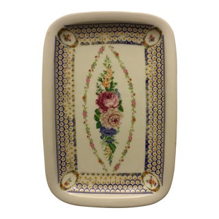 Hand Painted Limoge Porcelain Vanity Tray For Sale