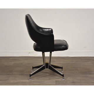 Chrome and Black Vinyl Office Swivel Chair Preview