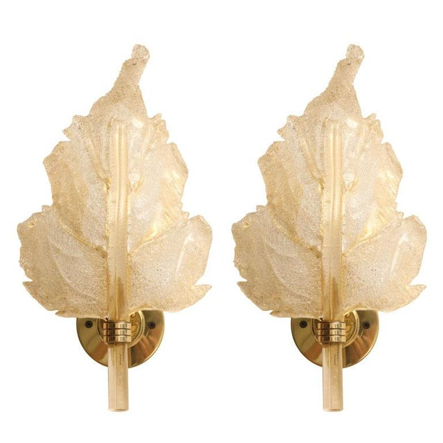 High end stunning pair of barovier toso italian murano wall stunning pair of barovier toso italian murano wall sconces image 11 of 11 mozeypictures Images