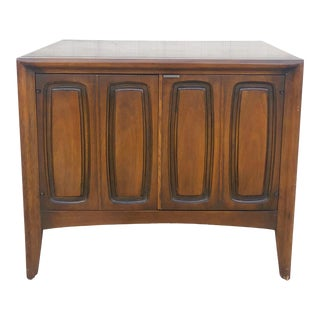 Mid Century Modern Nightstand With Cabinet Emphasis by Broyhill For Sale