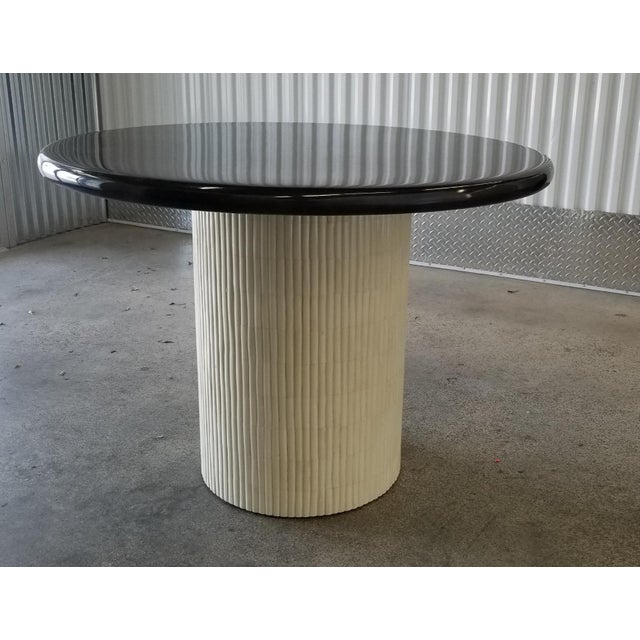 1970s Mid-Century Modern Enrique Garcel Tessellated Bone and Goatskin Center Table For Sale - Image 11 of 12