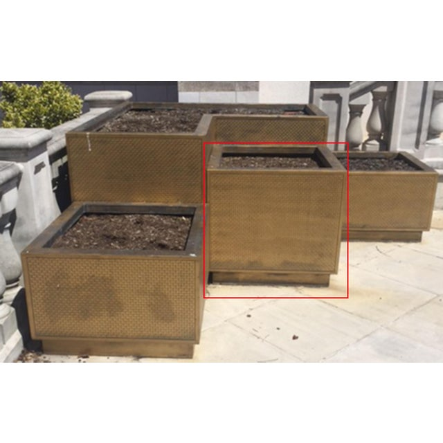 American Classical American Art Deco Large Outdoor Bronze Rectangular Planter For Sale - Image 3 of 3