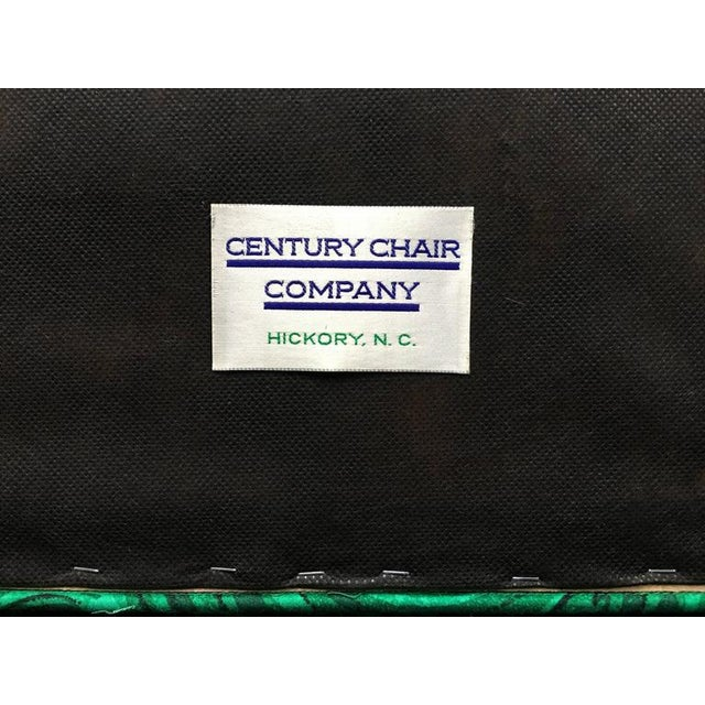 James Mont Style Malachite Lacquer Lounge Chairs by Century- A Pair For Sale In Philadelphia - Image 6 of 7