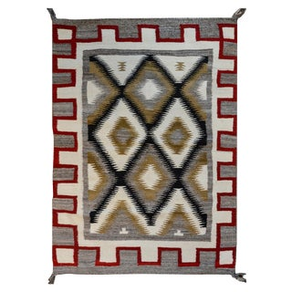 Bold Mid-20th Century Navajo Rug For Sale