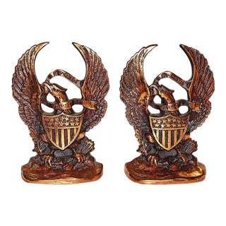 Copper-clad Iron Bookends - a Pair