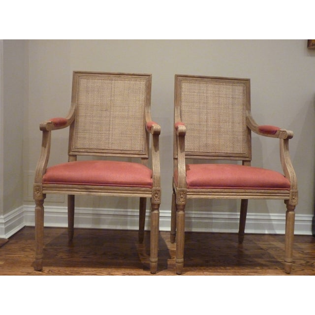 Restoration Hardware Cane Back Chairs - Pair - Image 2 of 6