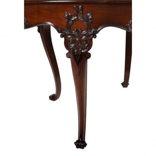 Late 19th Century 19th Century Traditional Oval Mahogany Center Table For Sale - Image 5 of 11