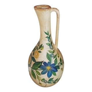 Monumental 19th Century Terracotta Earthenware Floor Vase For Sale