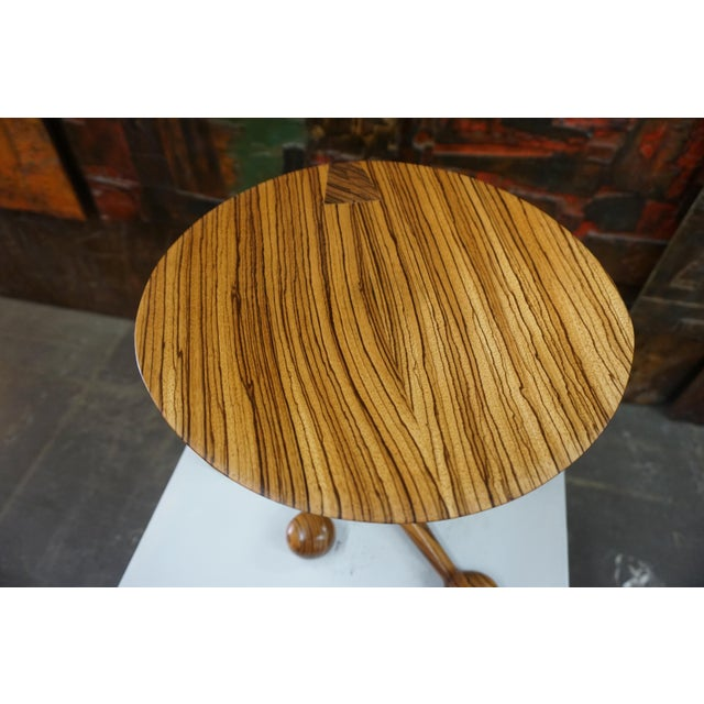 Mid-Century Modern Zebrawood Stool by Tim Mackaness For Sale - Image 3 of 7