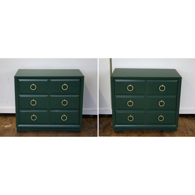 Pair of 'Modern Originals' chest dressers designed by T.H. Robsjohn-Gibbings for Widdicomb. These are substantial dressers...