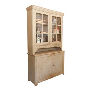 Painted Swedish Cupboard For Sale