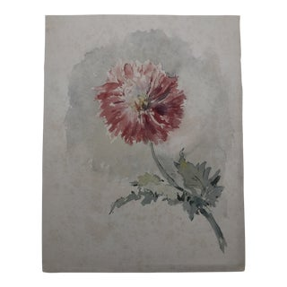 Victorian Floral Still Life by Agnese Mylius 1887 For Sale