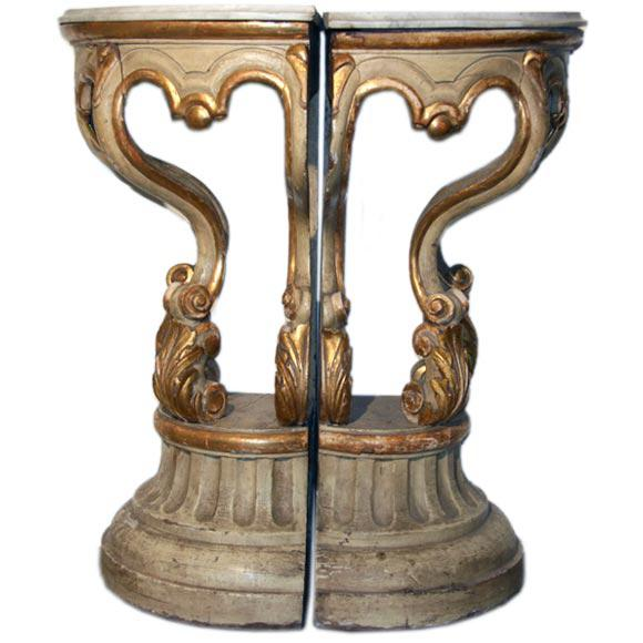 19th Century Italian Corner Consoles For Sale - Image 11 of 11