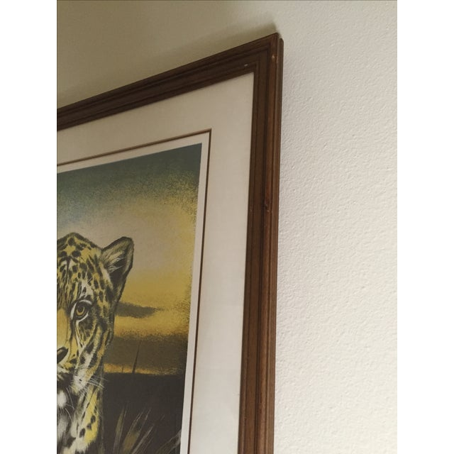 Huge Jaguar Lithograph by Martin Katon For Sale - Image 7 of 8