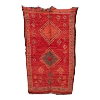 "Boujad Vintage Moroccan Rug, 4'10"" X 8'2"" Feet For Sale"