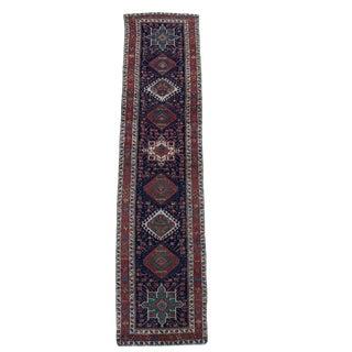 "Antique Karaja Persian Runner Rug - 13'9"" X 3'3"""