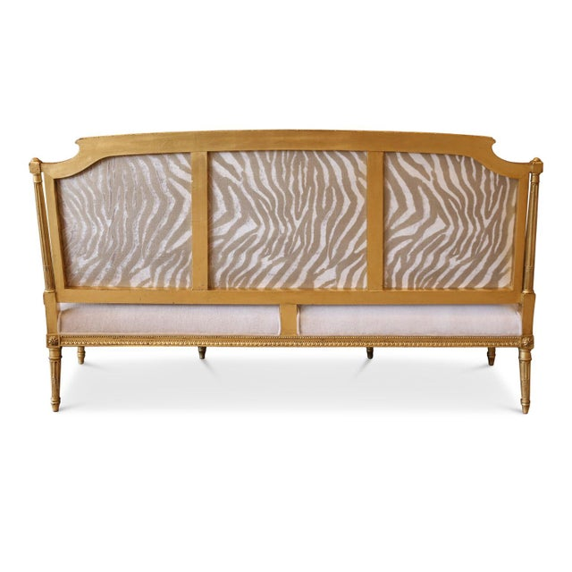 Gilded French Settee For Sale - Image 4 of 10
